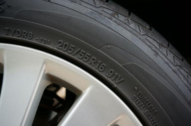 タイヤに表記されているタイヤサイズ