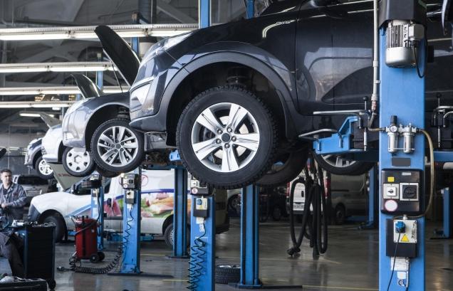 自動車の整備工場