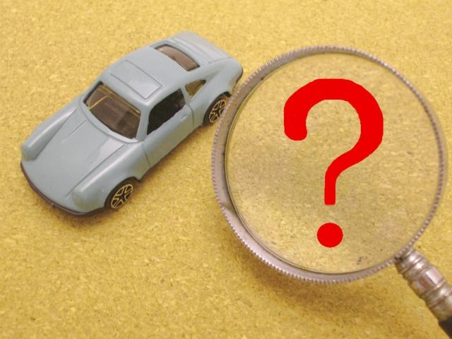 車について疑問を抱くイメージ