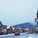 冬のカナダの街並み