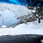 雪道のドライブ