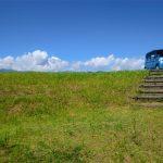 草原に停まる車