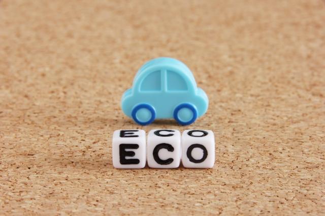 ミニチュアの車とECO