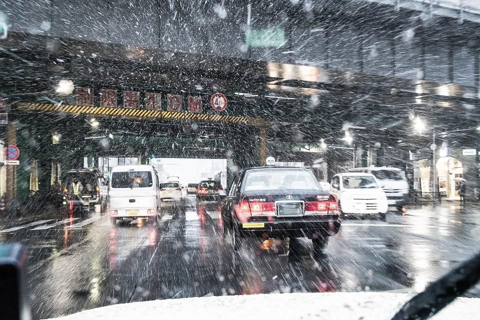 冬の運転風景